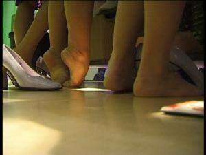 Candid feet in public